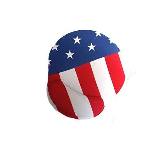 """American Flag Mouse Pad Design with American Flag Image ,Sporting Goods:AFI  """"BackSide Material: Neoprene Rubber. (This Material will avoid Mouse Pad from Sliding) *Use For: Perfect for Optical Mouse & Trackball Mouse & Mechanical Mouse. *FrontSide Material: Sponge & Cloth. *Size: 9 x 10 """""""