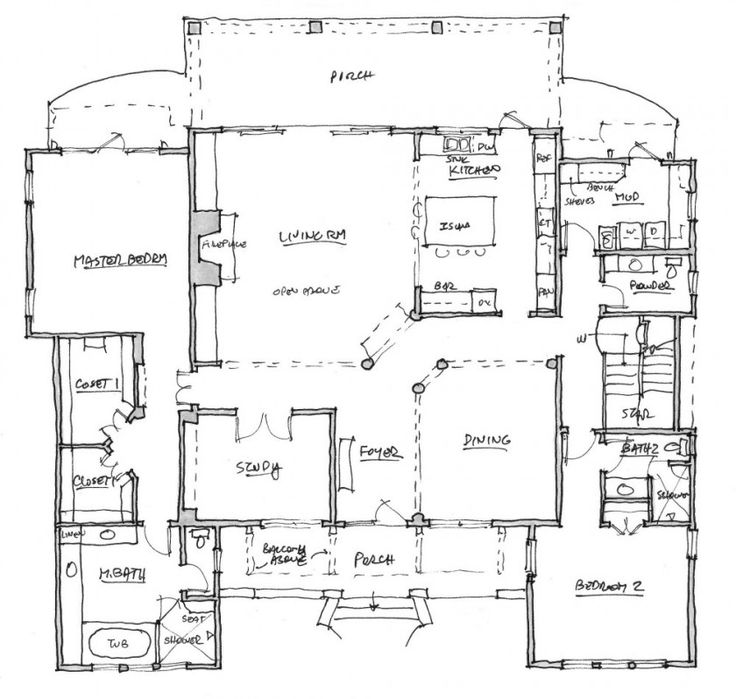 8 best blue prints images on pinterest architecture for House plans with separate guest house