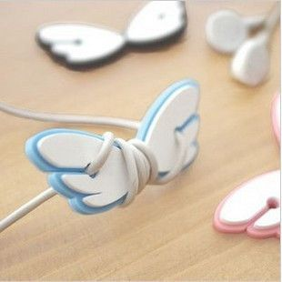 Winged cord holders. Perfect for keeping your earbuds untangled on the go.