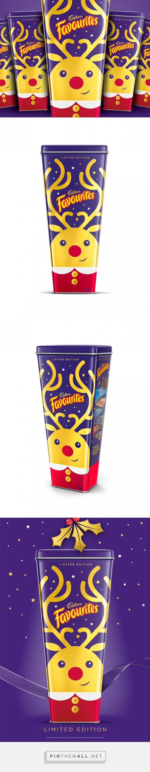 Cadbury Favourites - Limited Edition Christmas Packaging designed by Brand Society - http://www.packagingoftheworld.com/2015/12/cadbury-favourites-limited-edition.html