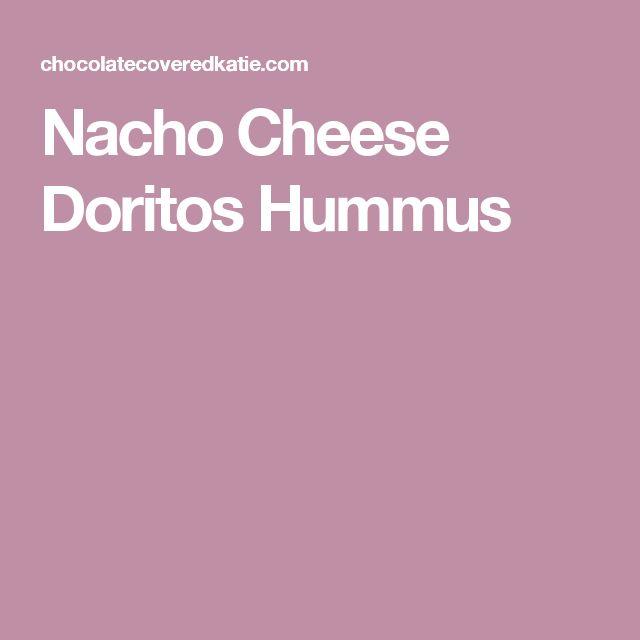 Nacho Cheese Doritos Hummus