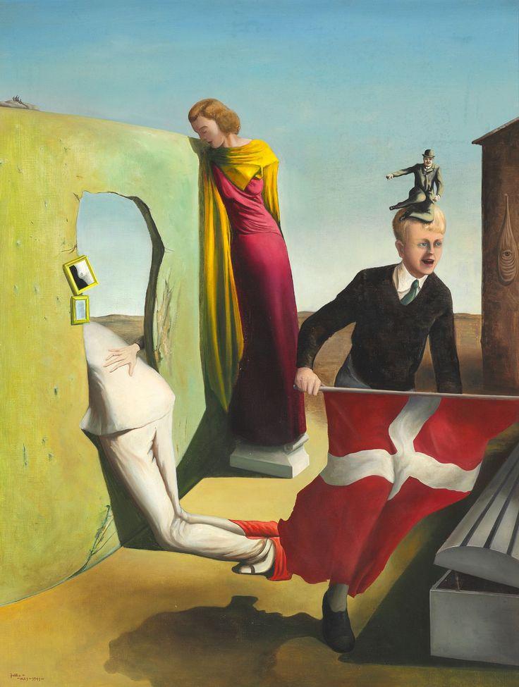 Wilhelm Freddie (Danish, 1909-1995), Pro Patria, 1941. Oil on canvas, 100 x 77 cm.