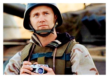 The Reporter in 'Generation Kill' functions as the mediator between the Marines and the audience. Evan Wright both translates and clarifies military jargon for the audience, and at the same time, reminds the viewers that there is a distinct separation between us and the family unit of the Marine soldiers- they have a specific way of speaking and communicating that we are not versed in, and therefore, needs to be translated for the audience.