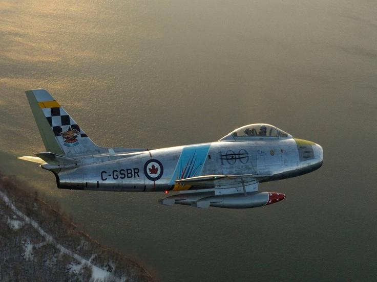 F-86 Sabre Over Cold Lake, Alberta, Canada