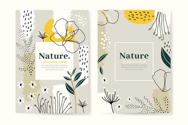Abstract Tropical Cards Template Free Vector Freepik Freevector Floral Abstract Nature L Floral Watercolor Background Flower Doodles Hand Drawn Flowers