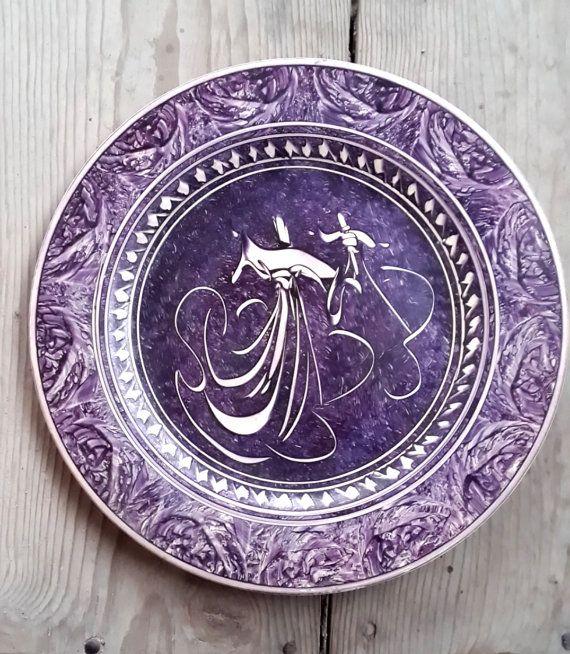Hand Made Turkish Ceramic Plate / Wall Decor / Turkish by Turqu50, $70.00
