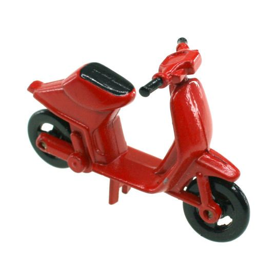 U003cdivu003eAdd This Sparrow Innovations Miniatures Red Motor Scooter To Your  Dollhouse Project.