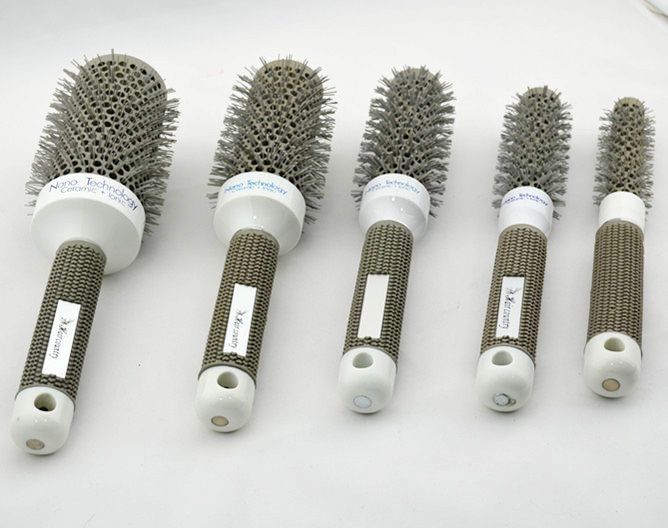 Nylon Heat-resistant Ceramic Brush Ionic Nano Technology Round Hair Brush CB-97 High Quality 5pcs/set