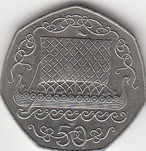 Rare Isle of Man 50p coins viking ships & Christmas Designs | eBay