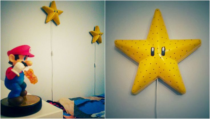 Real easy to hack a super mario bros star wall lamp! Just buy a can of paint like this one (I found Krylon Color Master, color Sun yellow for about 6$) :