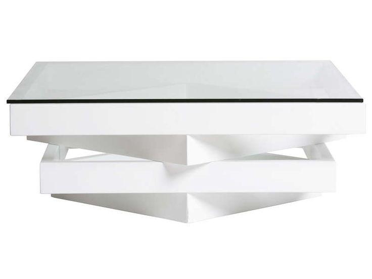 table basse marley coloris blanc pas cher prix promo table basse conforama ttc au lieu. Black Bedroom Furniture Sets. Home Design Ideas