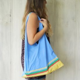 Make a simple bag out of a pillowcase!