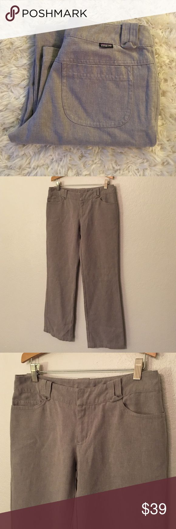 Patagonia Pants These pants are a grey color. They have pockets in front and sleek pockets in the back. These are in gently used condition. Size 2 Patagonia Pants
