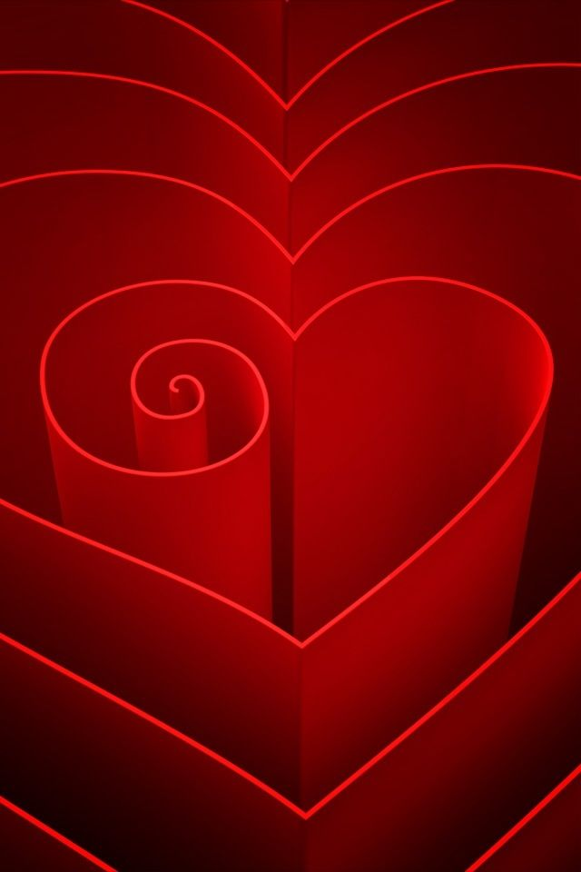 Red Spiraled Heart ♥ ~Saved by Tony Mager