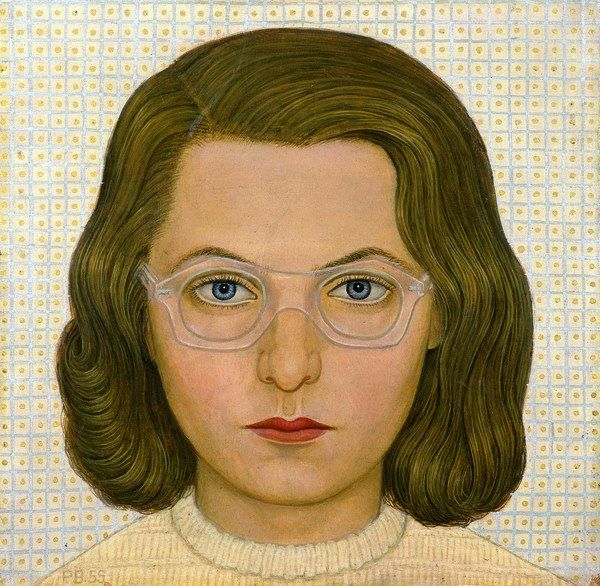 Věra s brýlemi, 1955 by Pavel Brazda