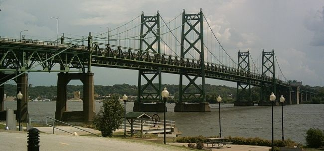 This bridge was quite close to my house when I lived in the Quad Cities.: Suspension Bridge, My Cousin, Cousins Houses
