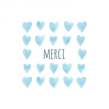 Une grille de petits coeurs bleus idéal pour remercier vos proches suite à la naissance de votre petit garçon : http://www.lips.fr/impression/carte-remerciement-naissance/format-130-x-130-2p-modele.html?modele_id=334