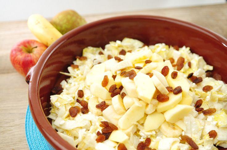 Witlofsalade met kerrie en cottage cheese