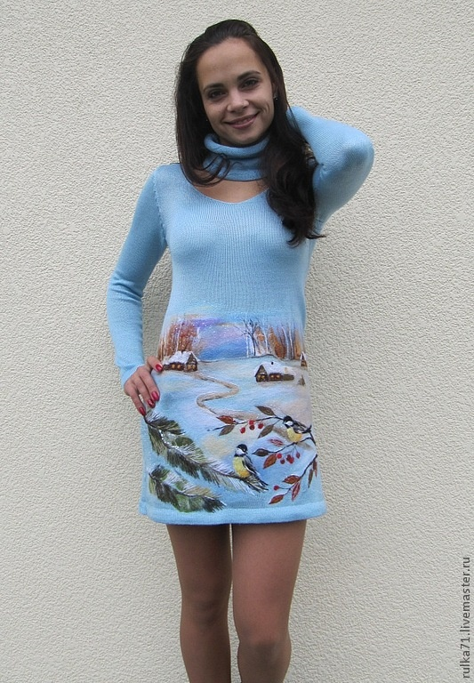 "Felt Decorated Dress by Ruslana Ярмарка Мастеров - ручная работа платье ""Вейлахта"". Handmade."