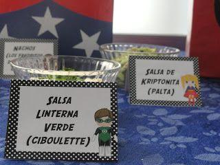 Party Design: Superheroes nombres divertidos para la comida