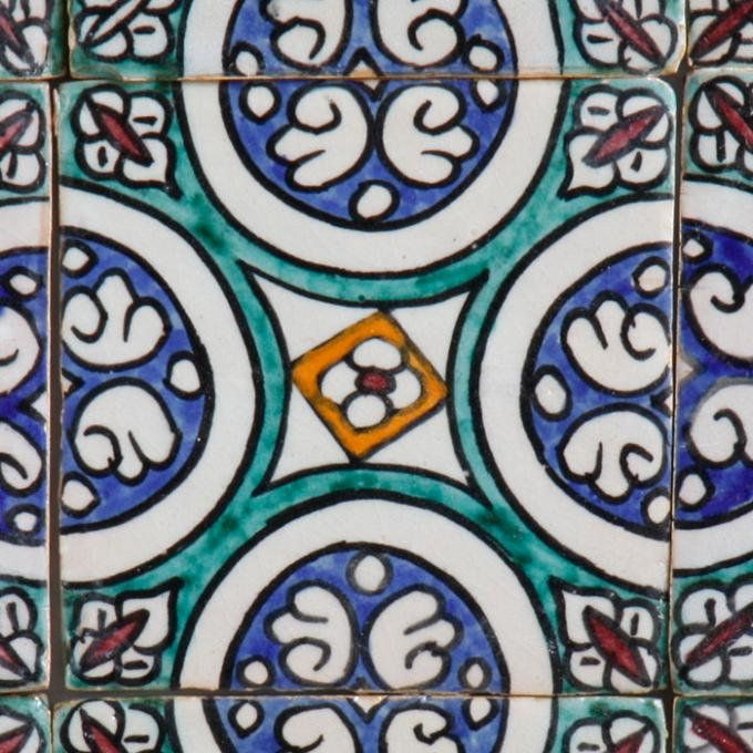 Moroccan tile| handpainted decor, ceramic tile for Spectacular atmosphere | Table lamp + Garden Lantern | Free Fast Shipping