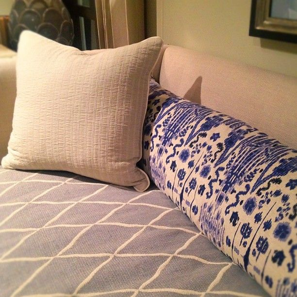 Super nice textile mix in blue, particularly smaller Ikat - all at @drexelheritage #hpmkt