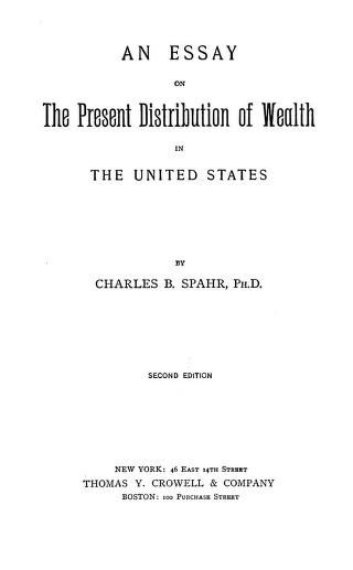 essay on unequal distribution of wealth