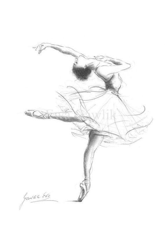 Set of three Ballerina Ballerina Prints Ballerina Sketch | Etsy