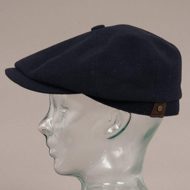 0696a2e7 Stetson Hats Stetson Hatteras Wool Cashmere Navy Newsboy Cap ...