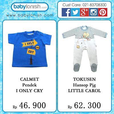 Dapatkan pakaian bayi usia 0-3'tahun merek Calmet dan Tokusen hanya di www.babylonish.com  Tersedia berbagai model dan warna.