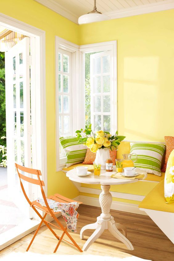 I love absolutely everything about this! The white and yellow is bright, cheerful and uplifting.  The simple green pop is ever so peaceful.  Please call NEXT for all of your window and door needs. 630-590-1201