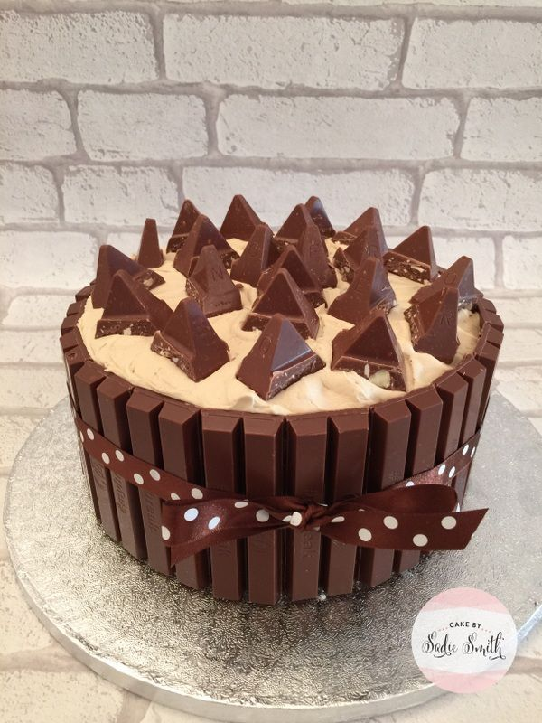 This Toblerone cake combines 2 of our favourite things, chocolate and Toblerone. From Cake by Sadie Smith, Wimborne, Poole and Dorset.
