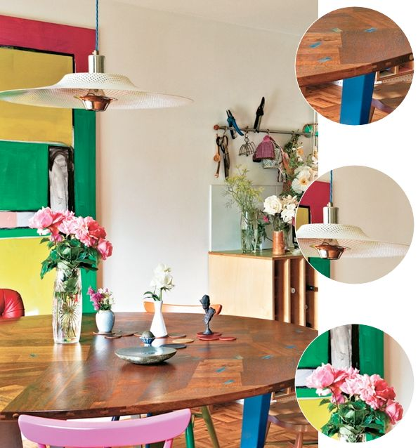 Bright.Bazaar: Colourful London Warehouse Kitchen: Decoration Kitchens Dinning, Idea, Color Kitchens, Bright Color, Cozinha Colorida, Kitchens Dining, Kitchens Cabinets, Kitchens Color, Dream Kitchens