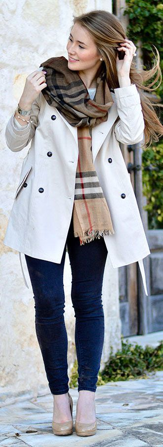 Ombre Burberry Scarf | How to Style a Scarf | Fall Style Ideas | Fall Fashion Tips | Styling for Fall | Styling for Winter | How to Wear a Scarf || A Lonestar State of Southern