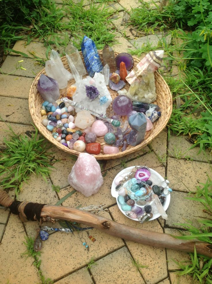 Soaking up the full moon energies :) happy sparkling crystals :)