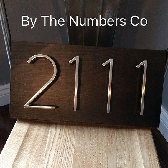 Maison de numéro de Plaque, numéro de la maison, signe de l'adresse, numéros de maison métal, cadeau de mariage, signe présent, à l'extérieur, plaque d'adresse.