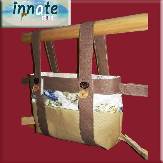 Unique LITE bag with velcro closures by InnateArtisanSoap on Etsy