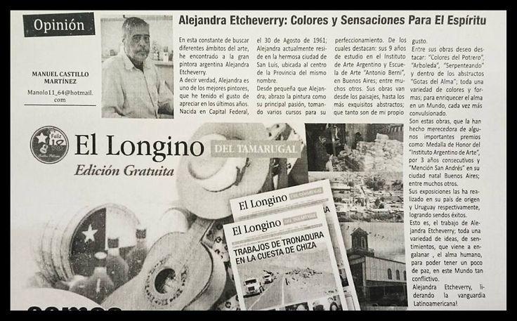 Muchas gracias a Manolo Castillo Martínez por esta nota para el Diario Longino de la hermana República de Chile - Agradezco los conceptos allí expuestos. La nota salió el día 24 de septiembre de 2016