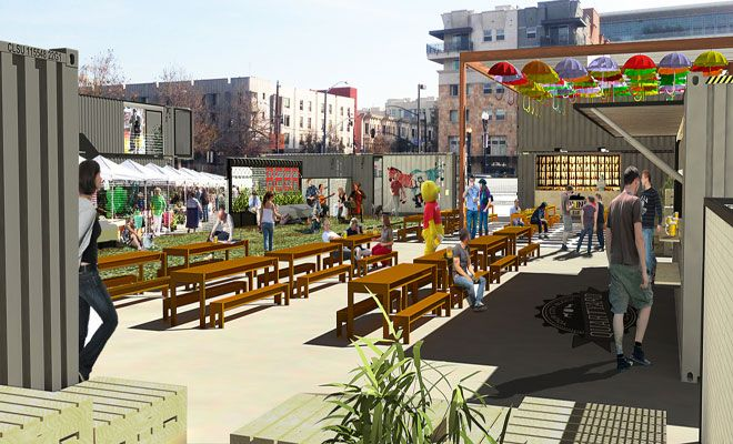 Food Truck Parks With Fabric Architecture