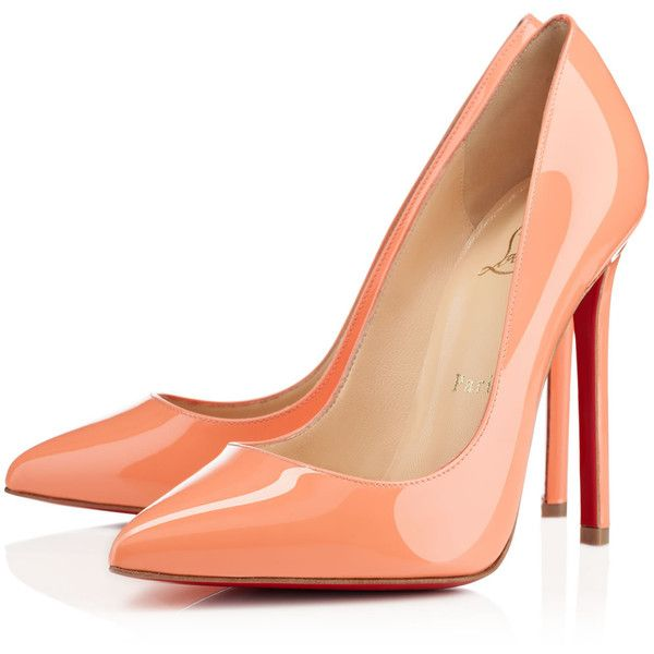 Christian Louboutin Pigalle ($625) ❤ liked on Polyvore featuring shoes, pumps, heels, christian louboutin, sapatos, mango, sky high, patent leather pointy toe pumps, patent pumps and pointed toe high heels stilettos