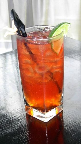 Turkey Trot --//  1 1/2 oz Makers Mark Bourbon  / 2 oz Sprite  / 2 oz Ocean Spray cranberry juice  //  Add ingredients one by one into a highball glass filled with ice starting with the bourbon, followed by the cranberry and finishing with the sprite. Stir and drink.
