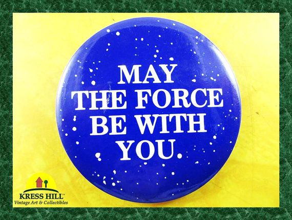 Retro May The Force Be With You Collectible by KressHillVintage