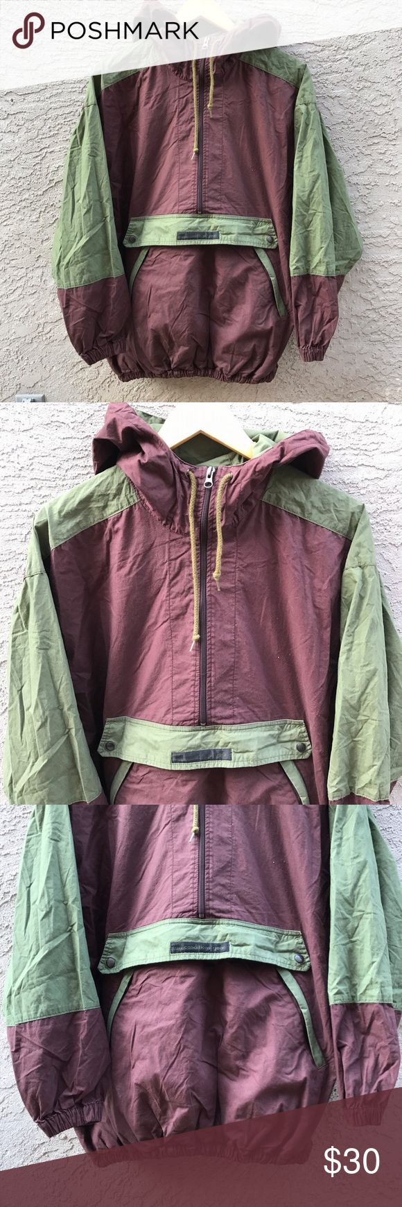 Nike acg jacket og men Nike og acg jacket // brown and green //windbreaker with pouch , hoodie , pockets // great condition men's medium / Nike Jackets & Coats