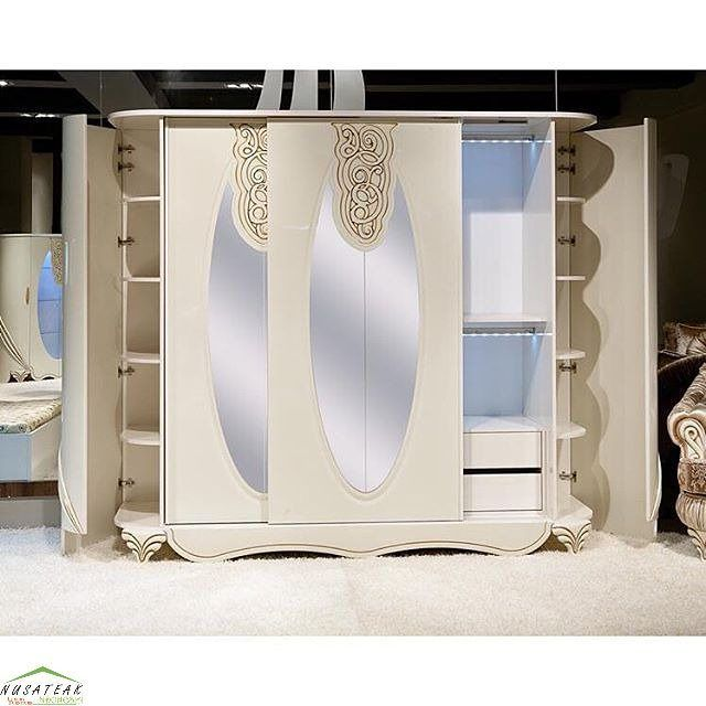 #French #Mahogany #Wardrobe with #Carving in White Gloss Srikandi by #NusaTeak  PIN: 7658A033 Call WA: 6281908021000 Inquiry: info@nusateak.com Site: NusaTeak.com  #Mebel #Furniture #Meuble #Home #Decor #Interior #FrenchWardrobe #HomeDecor #FrenchStyle #HomeInterior #MahoganyFurniture #CarvedWardrobe #MahoganyWardrobe #FurnitureDesign #InteriorDesign #Design #Indonesia #Etsy #BedroomFurniture