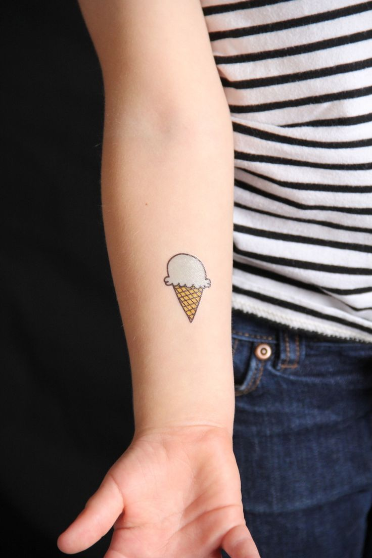 Ice cream tattoos - free printable!