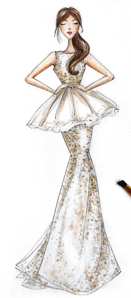 how to draw a body for fashion designing