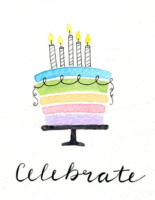 Hand-drawn Birthday Card 2017