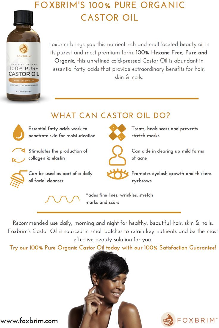 Do you want to moisturize your skin, stimulate the production of collagen and elastin, heal scars, prevent stretch marks, lengthen your eyelashes, and thicken your eyebrows? Look no further than Foxbrim's 100% Pure Organic Castor Oil. Recommended for daily use, and satisfaction guaranteed! Use Code LOVE20 for 20% your Castor Oil purchase during February! <3