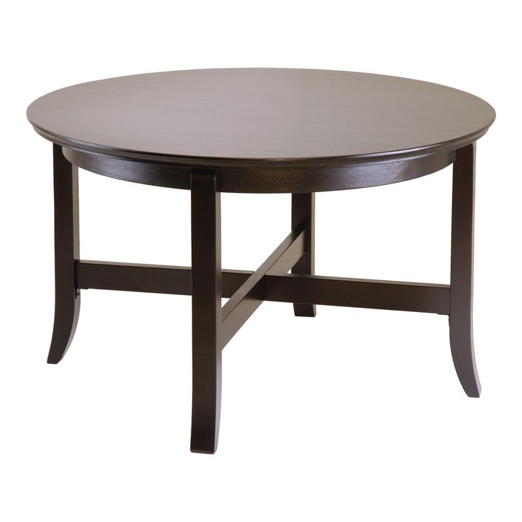 Winsome en Toby Round Coffee Table with Flared Legs
