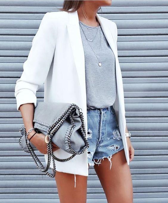1 piece, 5 looks: white blazer